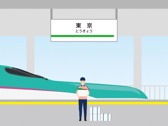 ③東京駅にて荷下ろしし  イベント会場等へ