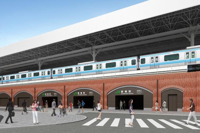全面開業時駅舎完成イメージ