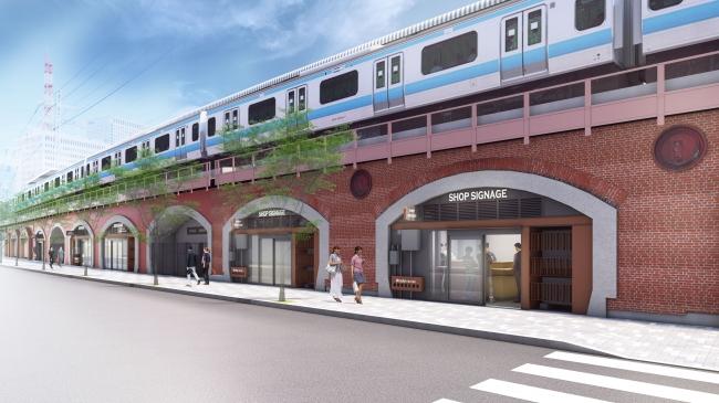 全面開業時駅舎および店舗外観イメージ