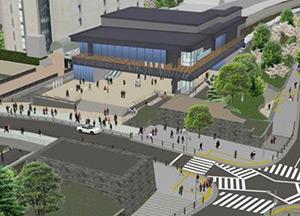 全面開業時西口新駅舎外観イメージ