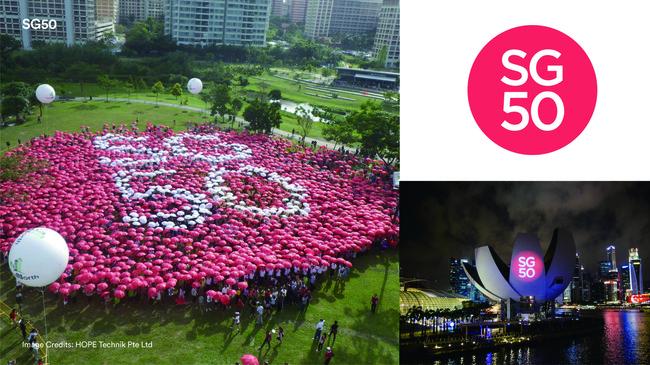 【BLACK代表作品】シンガポール建国50周年 Image Credits HOPE Technik Pte Ltd