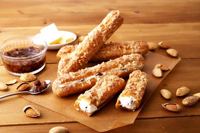 クロッカン・エクレール<ラムレーズンとバタークリーム>