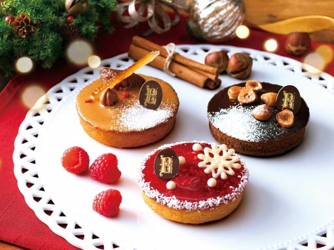 クリスマス限定のガトー・ナンテ3種