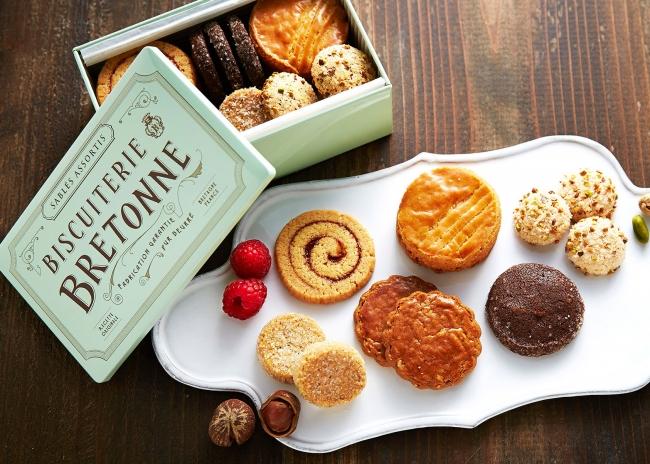 人気のクッキー缶 ブルターニュ クッキーアソルティ<缶>