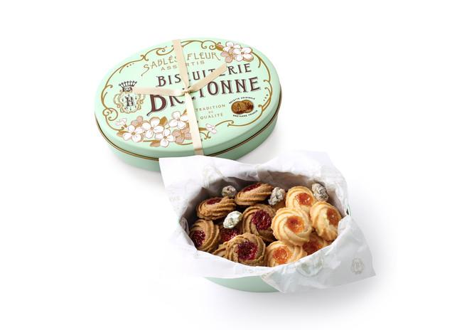 """ブルトンヌに新作のクッキー缶がついに登場!""""ブルトンヌアニバーサリー""""限定で「サブレ・フルール アニヴェルセル〈缶〉」を販売します"""