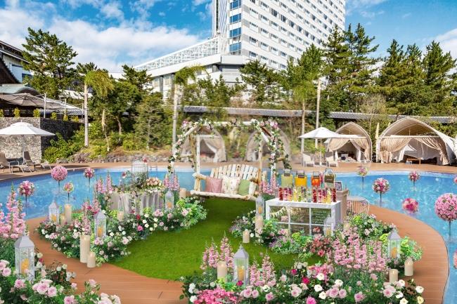ガーデンエリアがフォトジェニックな空間に(イメージ)