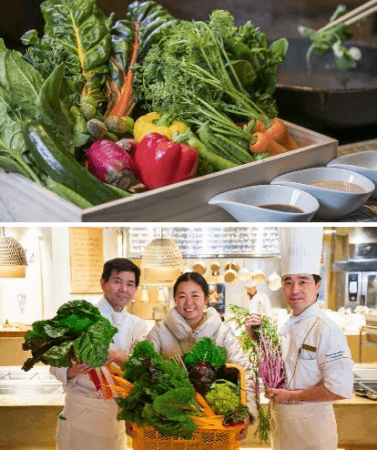 左から深水総料理長、辻麻須香さん、 山下料理長