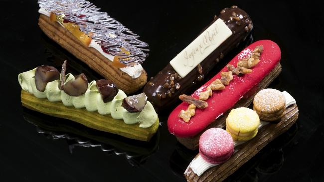 (左)キャラメル、ティベール(右)ショコラ、カフェ、バニラ