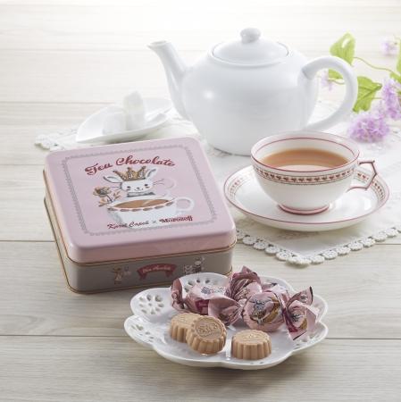 カレルチャペック紅茶店の茶葉使用のチョコレート。デザインは山田詩子が大人かわいく仕上げました。