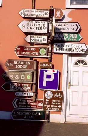 バレン高原の道路標識