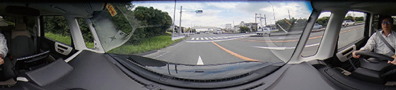 360°ワイドビューの映像イメージ