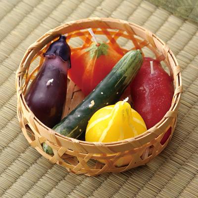 お供え野菜ローソク