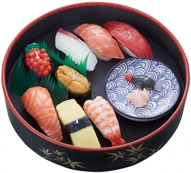 寿司桶に入った「寿司づくし」ギフト