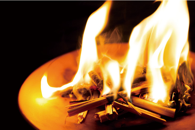 実際の「迎え火・送り火」の風習