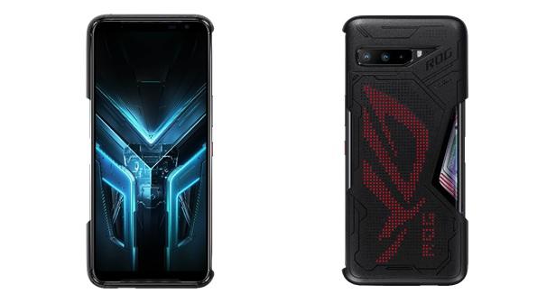 ROG Phone 3 Lighting Armor Case装着イメージ