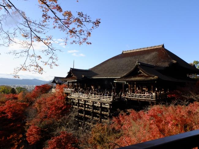 秋の清水寺、京都