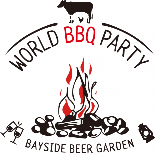 BAY SIDE BEER GARDEN - WORLD BBQ PARTY - ロゴ