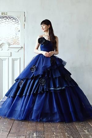 ブルーフラワー・ドレス