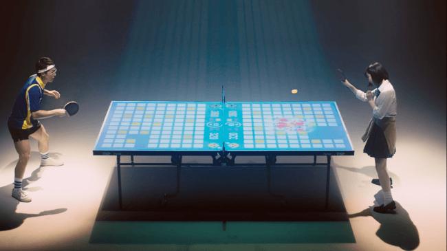 プロジェクションマッピング卓球
