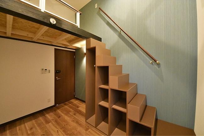 ↑各個室はロフト及び階段収納付
