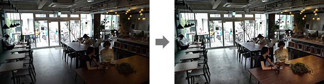 逆光の処理イメージ
