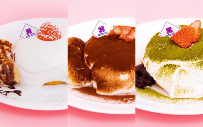 かわいいアニマルパフェと並んで人気の夢叶うパンケーキ3種