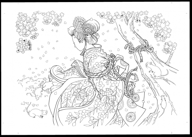 歌舞伎役者市川染五郎監修の超本格派大人ぬりえ登場歌舞伎絵巻