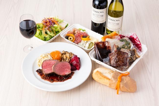 豪州産牛フィレ肉のロースト 赤ワインと粒マスタードのソース