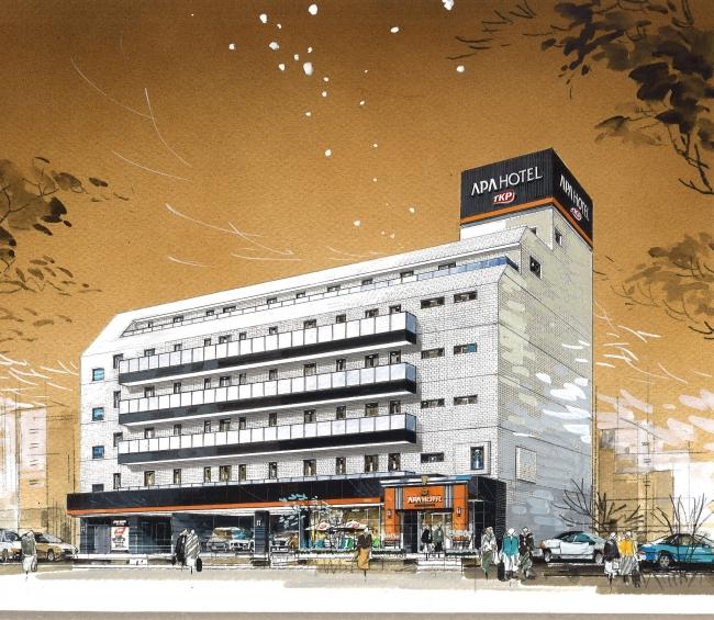 アパホテル〈TKP東京西葛西〉完成予想パース外観