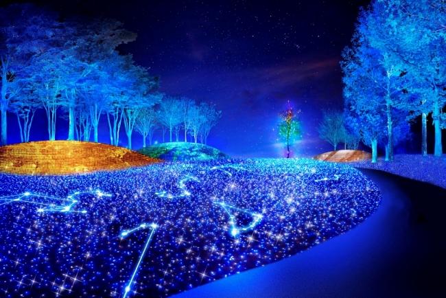 LED電球による宇宙空間演出