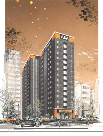 アパホテル〈浅草 蔵前北〉完成予想パース