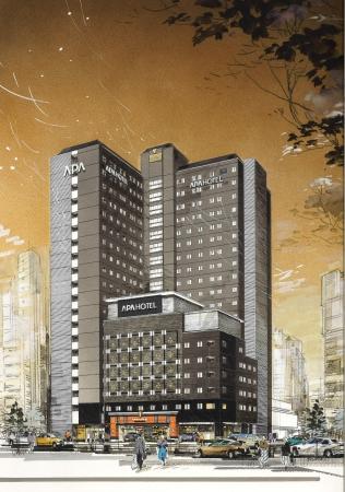 アパホテル&リゾート〈西新宿五丁目駅タワー〉完成予想パース