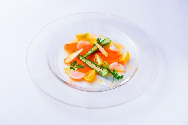 スモークサーモンのマリネ オレンジ風味