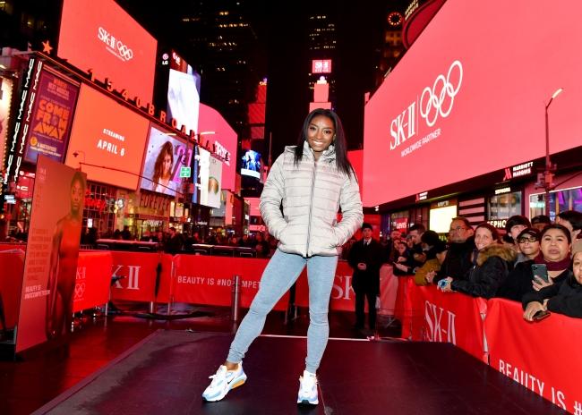 2020年3月3日(現地)、米ニューヨーク、タイムズ・スクエアでのイベントの様子