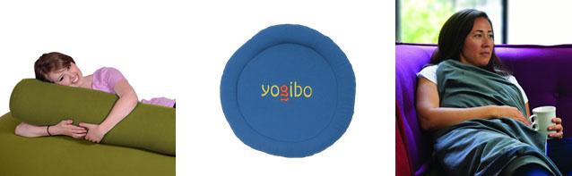 Yogiboのソファと同じ素材の抱枕やおもちゃ、ハーブを使用した疲れを癒やしてくれるグッズなどがございます。