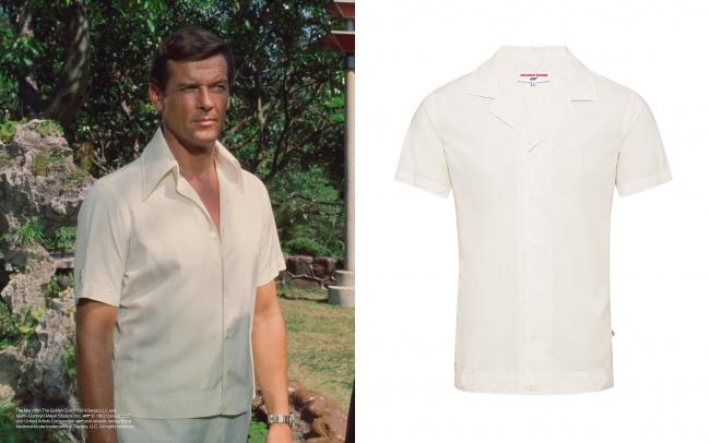 ロジャー・ムーア 『007 黄金銃を持つ男』 サファリシャツ ¥39,000+税