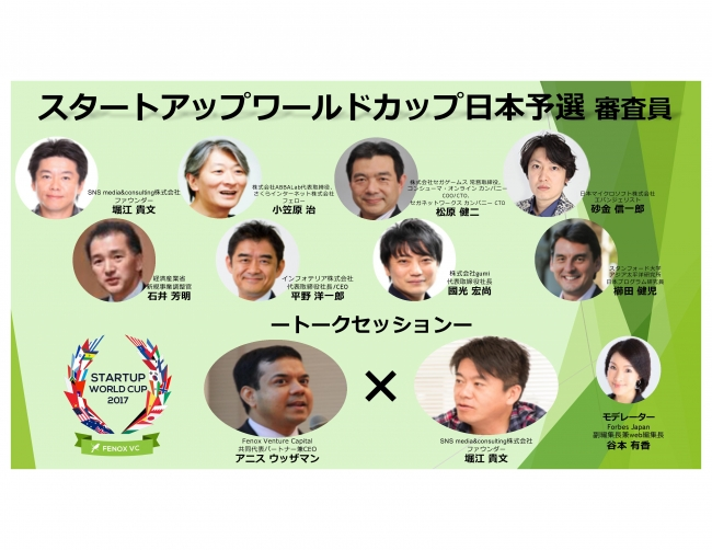 Startup World Cup日本予選 審査員及びトークセッションの詳細決定