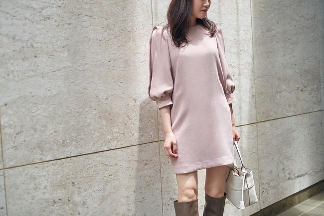 Ladylike dress ピンクベージュ
