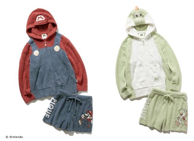 パーカー&ショートパンツ セット (写真左:マリオ / 写真右:ヨッシー)