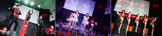シニアモンスターズ祭vol.2 敬老の日スペシャル (左から AVERAGE62、天国にもっとも近いアイドル myunとyayo~、昭和ガールズ)