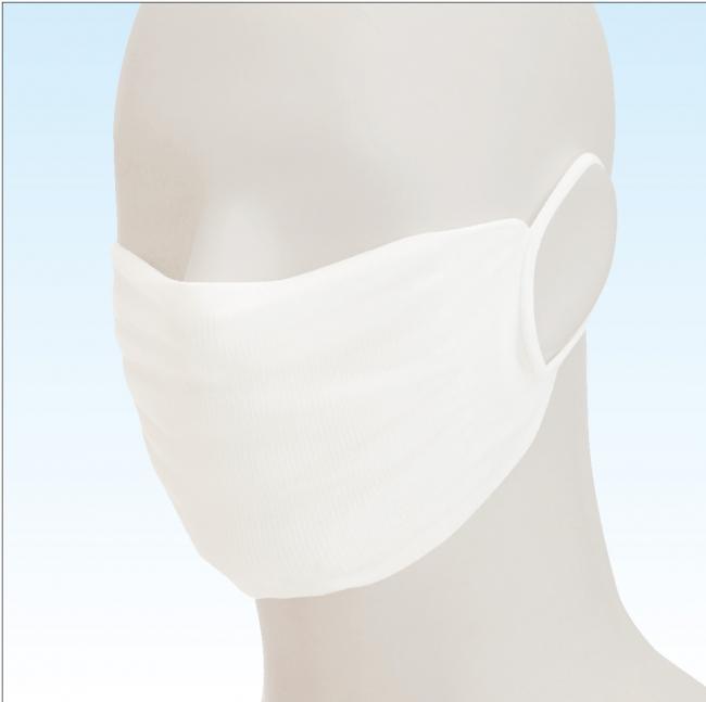 【着用】高い伸縮性で顔にしっかりフィット