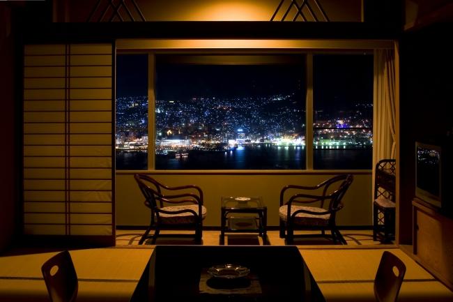『長崎ホテル清風』 全室から夜景を楽しめる