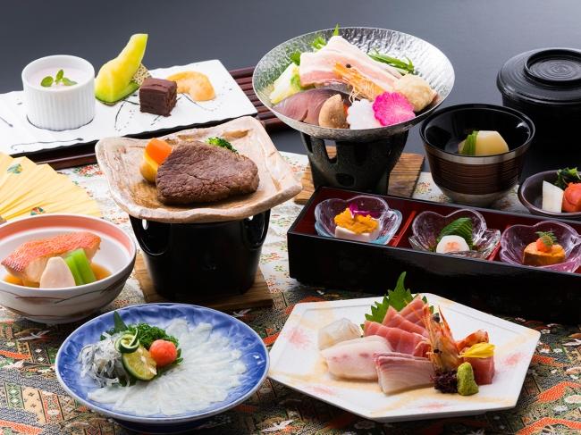 三浦の海の幸はもちろん、肉や野菜など品数でも満足の和食会席