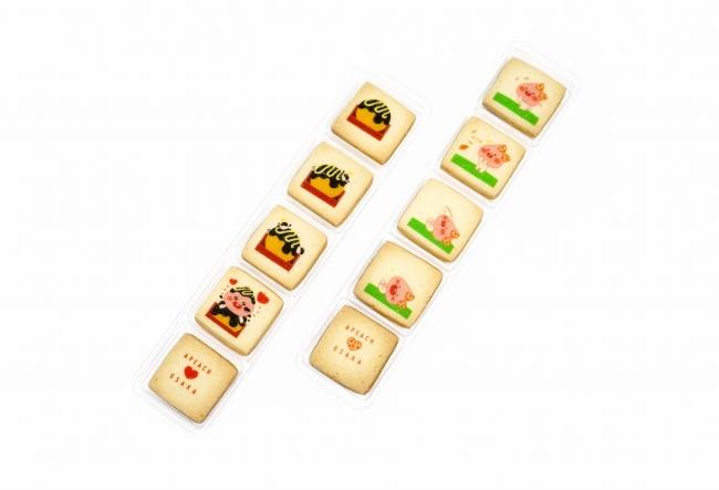 ちびアピーチ クッキー(たこやき)税抜¥300 ちびアピーチ クッキー(ばーん!)税抜¥300 (関西限定商品)