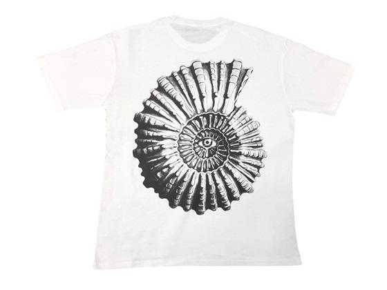 アンモナイトTシャツ(ホワイト):3,000円(税込)