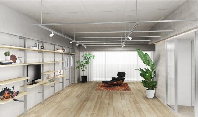 自由に編集し創造できるシンプルな空間」※イメージパース
