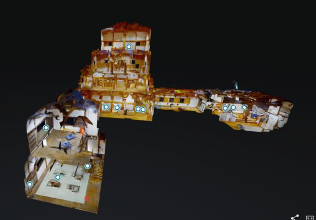 城内をVRで探検。 大洲城キャッスルステイを疑似体験。