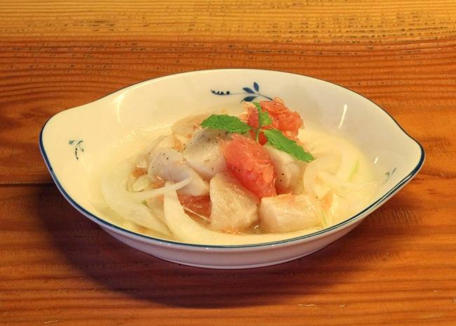 北海道産生ホタテの塩レモンマリネ(価格:680円)