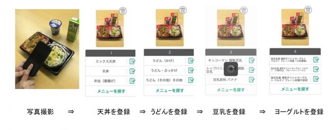 複数食品の登録