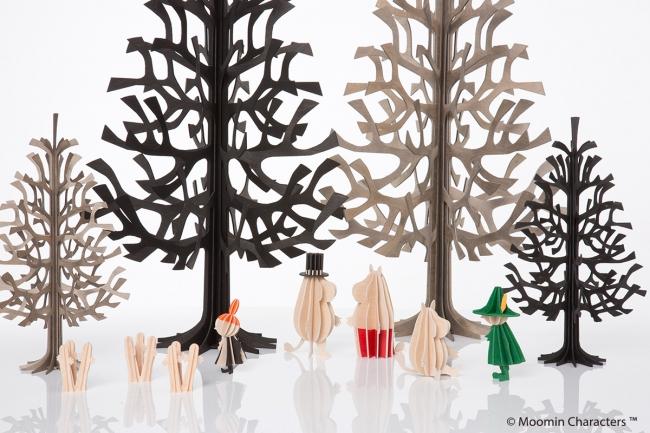 クリスマスツリー、ムーミン(ロヴィ)各1,200円(税別)から